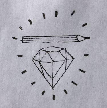Aus Diamant wird Bleistift